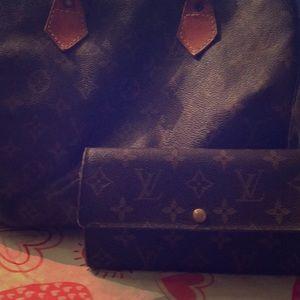 Louis Vuitton Speedy 30 and wallet